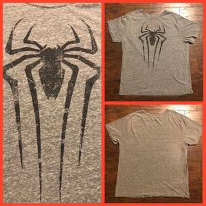 Spider-man Gray T-Shirt Large Great Cond.